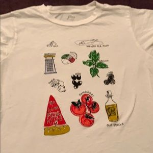 J crew pizza t shirt
